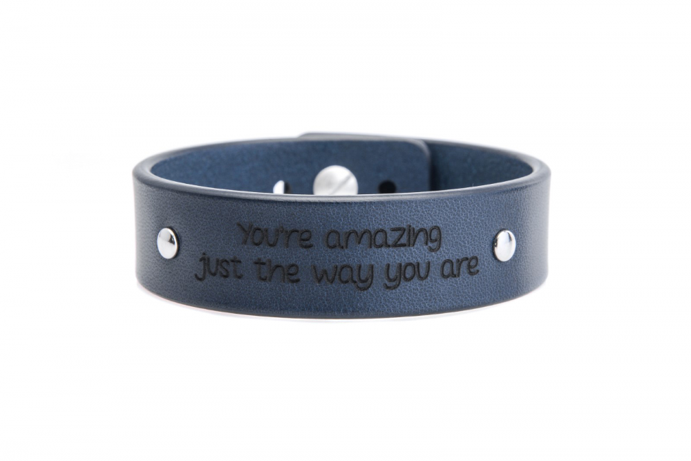 2 cm mėlyna apyrankė - You're amazing just the way you are