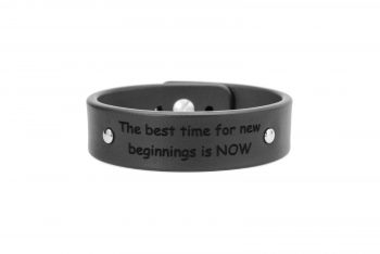2 cm juoda apyrankė - The best time for new beginnings is NOW