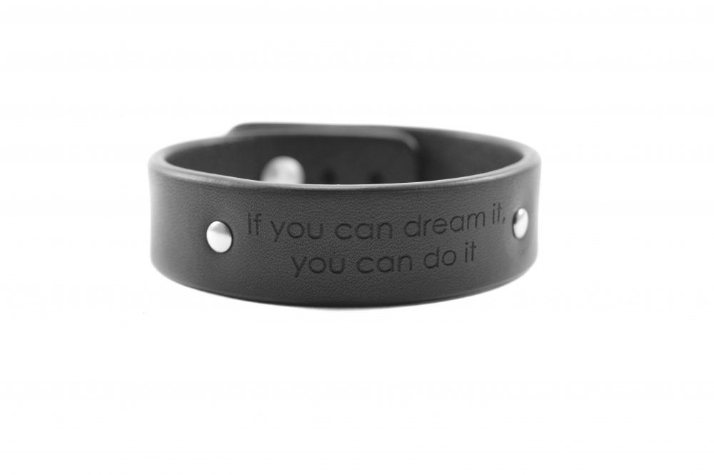 2 cm juoda apyrankė - If you can dream it, you can do it